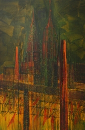 Affair of Real Estate 48 x 72 oil on canvas