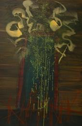 Blue Door 48 x 72 oil on canvas